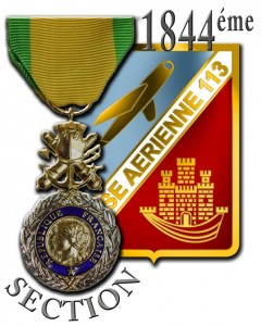 Insigne 1844 section BA 113