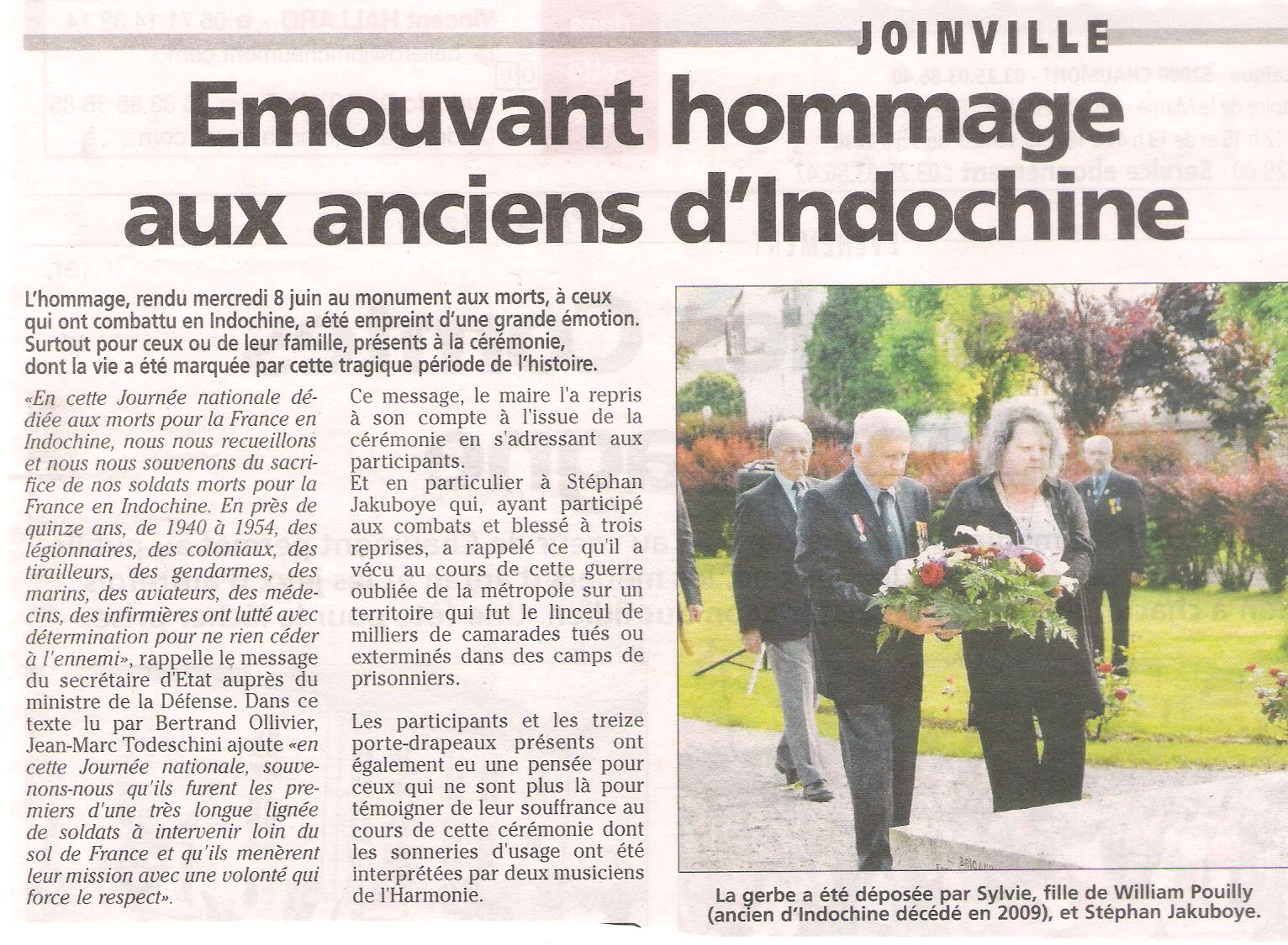 Journée nationale d'hommage aux morts pour la France en Indochine 001