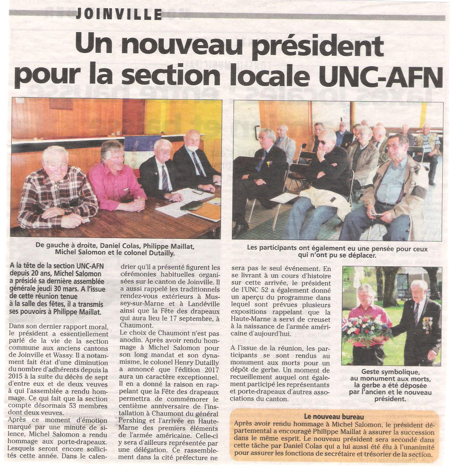 4 - 30 mars 2017 - AG UNC - AFN