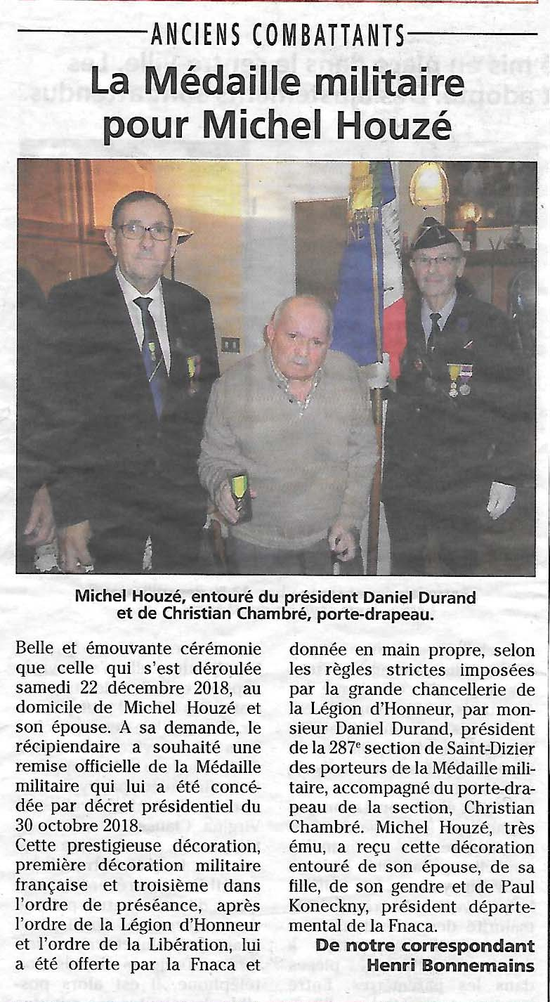 Article JHM Houzé Michel